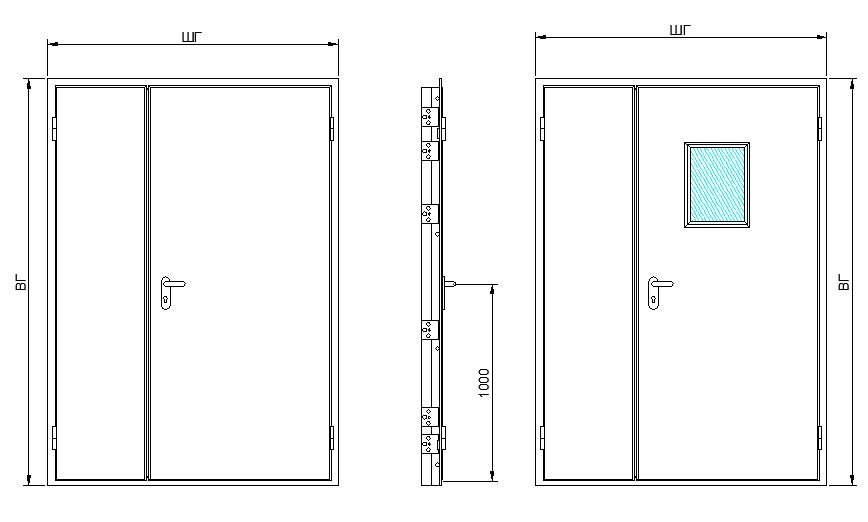 двупольные металлические двери прайс
